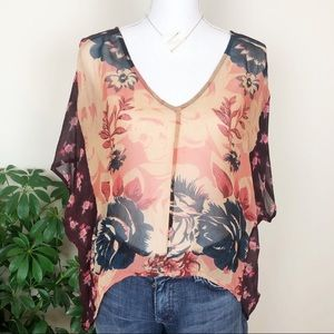 Anthropologie staring at stars floral high low top